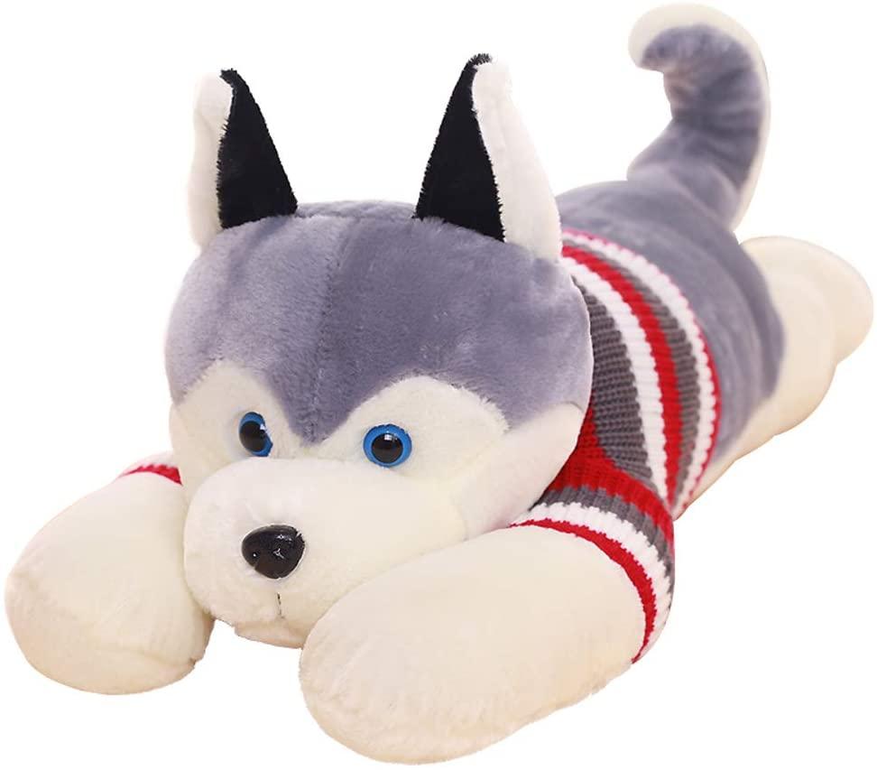 L&J Plush Toy Husky Doll Pillow Cute Stuffed Animals Super-soft-A 170cm(67inch)