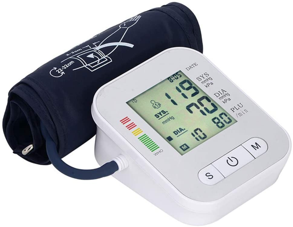 JFGUOYA Blood Pressure Monitor Automatic Digital Blood Pressure Cuff Upper Arm, Batteries not Included - Accurate, Portable and Perfect for Home Use