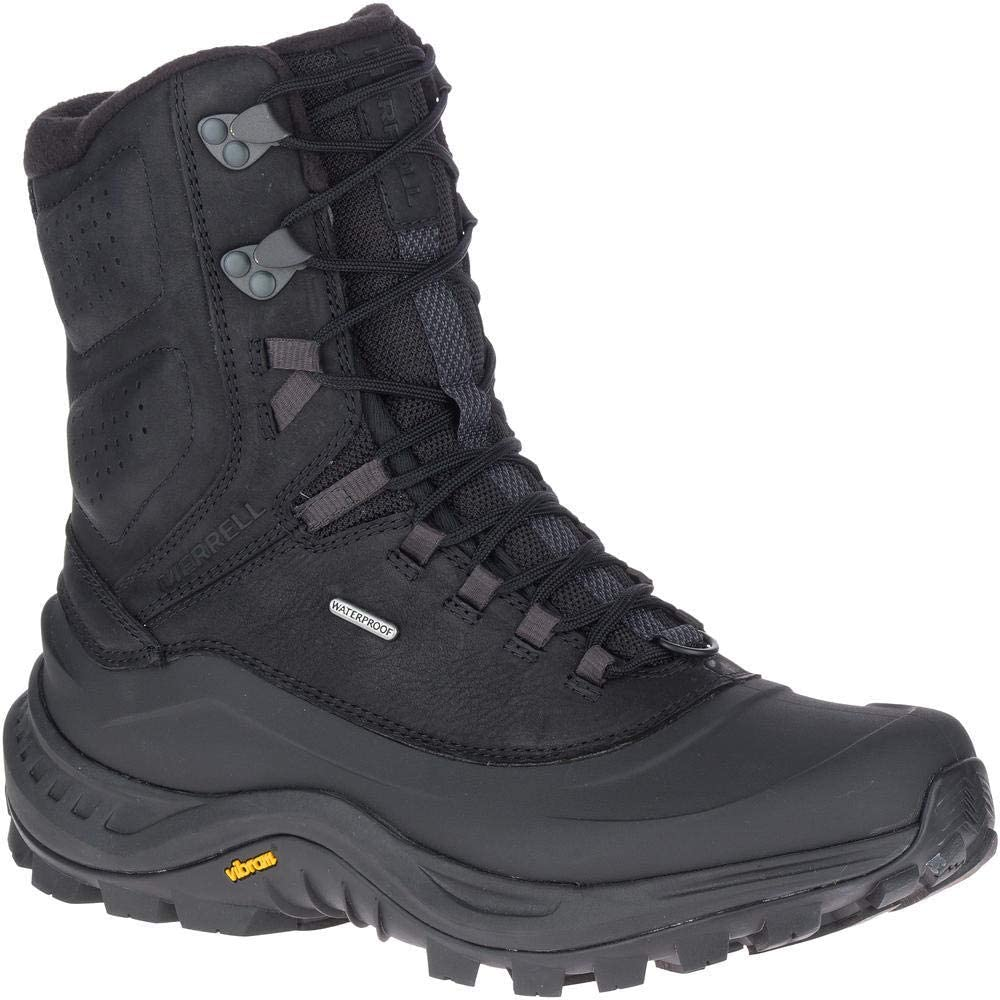 Merrell Mens Thermo Overlook 2 Tall WP Hiking Boot, Black - 9.5 M