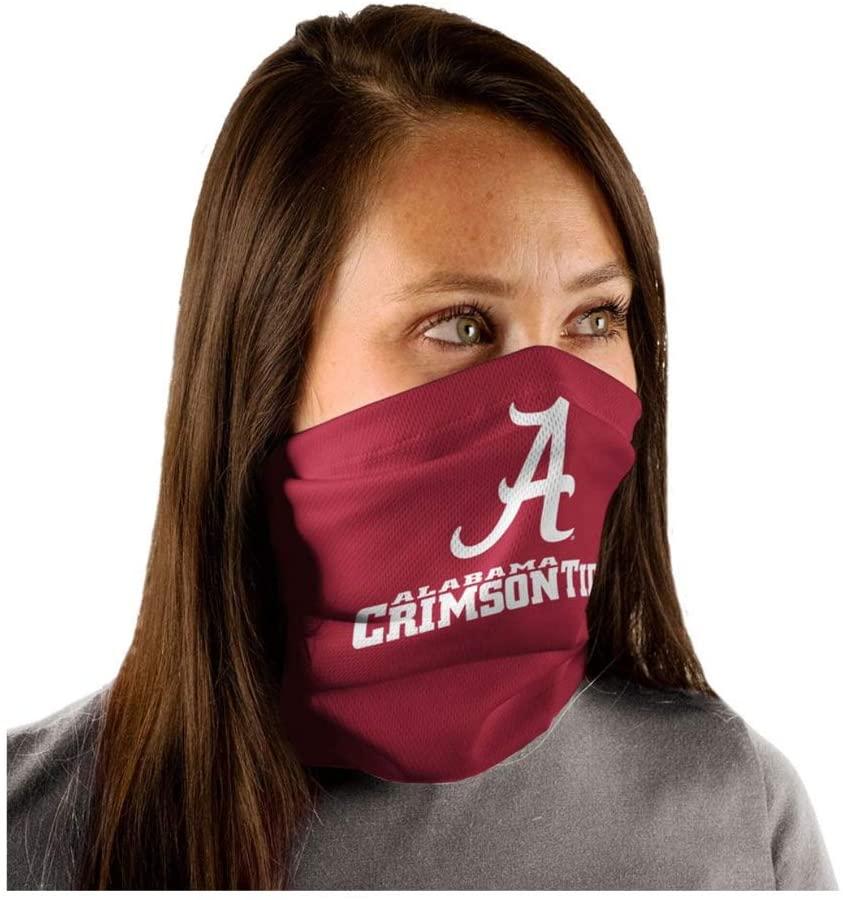 WinCraft NCAA University Alabama Crimson Tide Text/Logo Fan Wrap Gaiter Mask Headwear