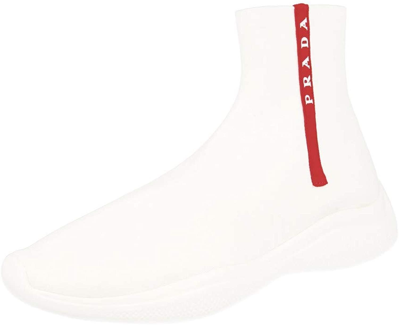 Prada Men's 4T3351 Fabric High-Top Sneaker