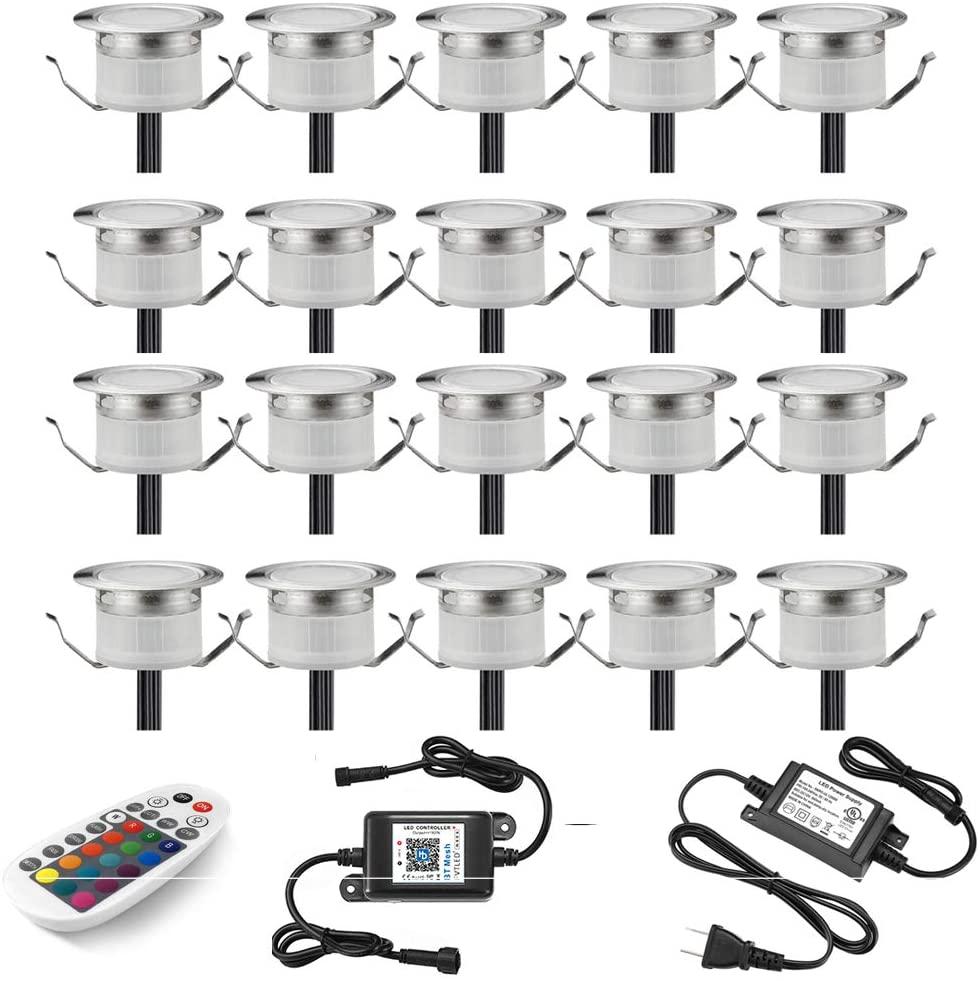 LED Deck Lights Kit, Set of 20 Φ1.22