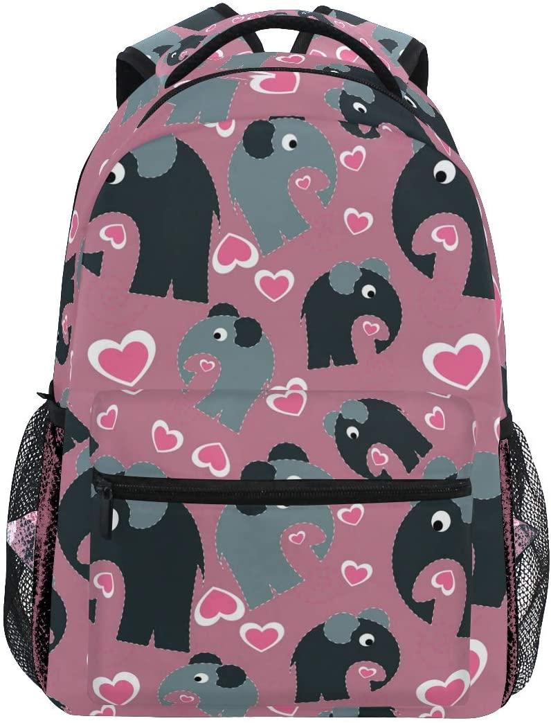 School Backpack Cartoon Elephant Bookbag for Boys Girls Teens Casual Travel Bag Computer Laptop Daypack