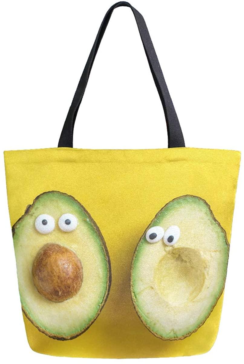 Women's Tote Bag Top Handle Handbags Shoulder Tote Bag Avocado Tote Washed Canvas Purses Bag