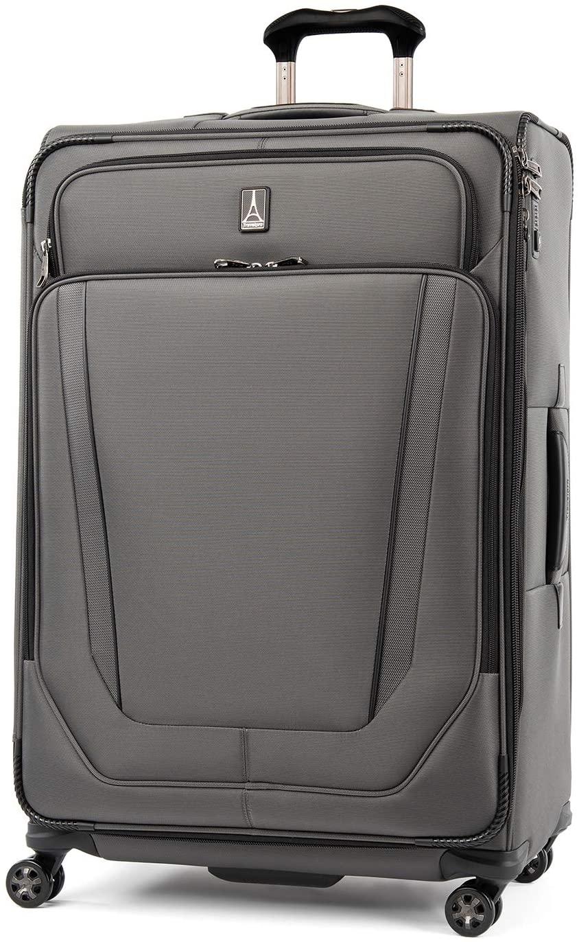 Travelpro Crew Versapack-Softside Expandable Spinner Wheel Luggage, Titanium Grey, Checked-Large 29-Inch