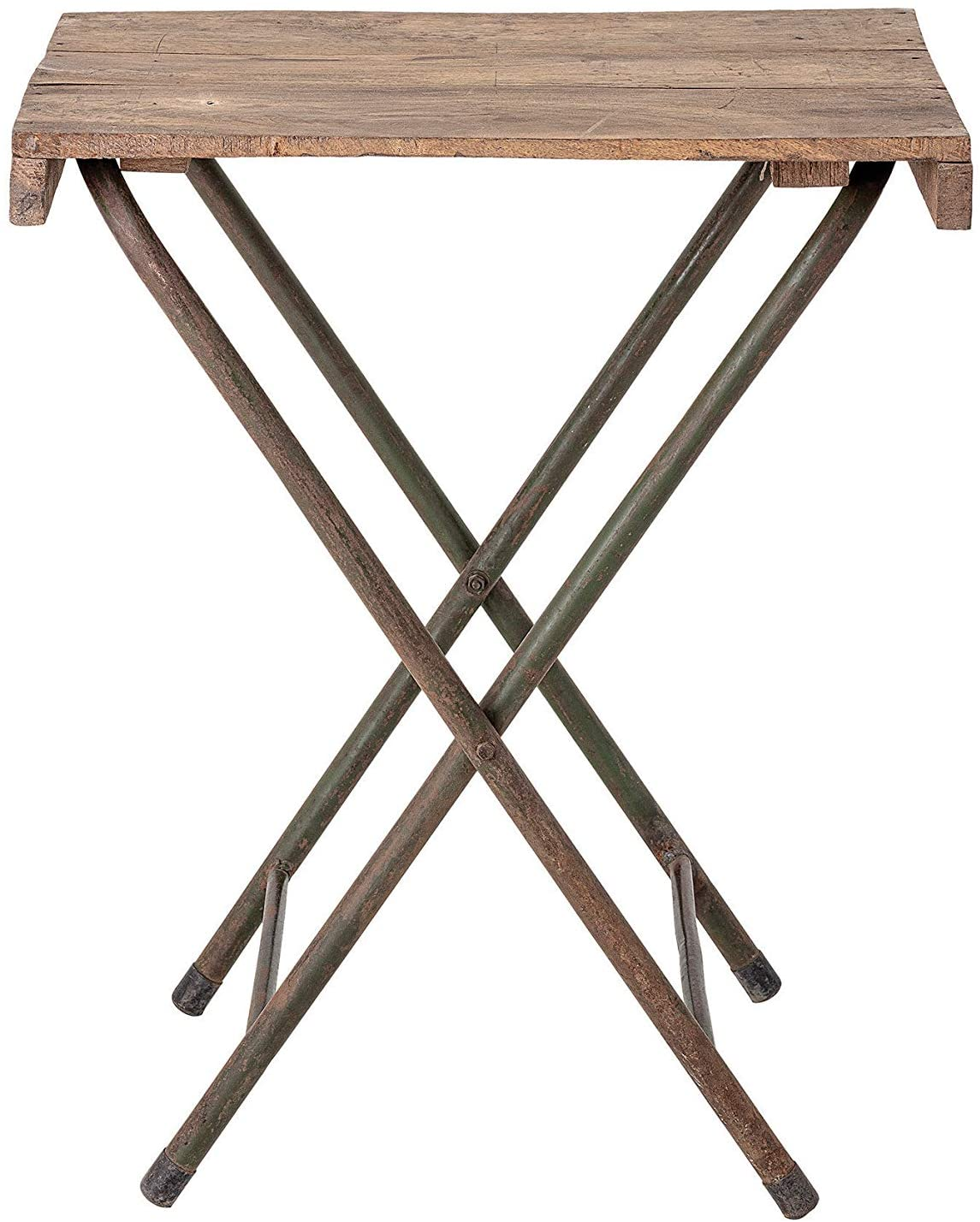 Creative Co-op Found Wood Folding Metal Legs Table, Natural