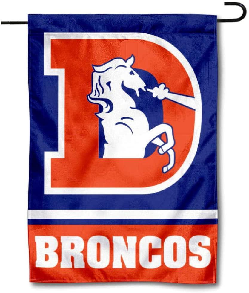 WinCraft Denver Broncos Throwback Logo Double Sided Garden Flag