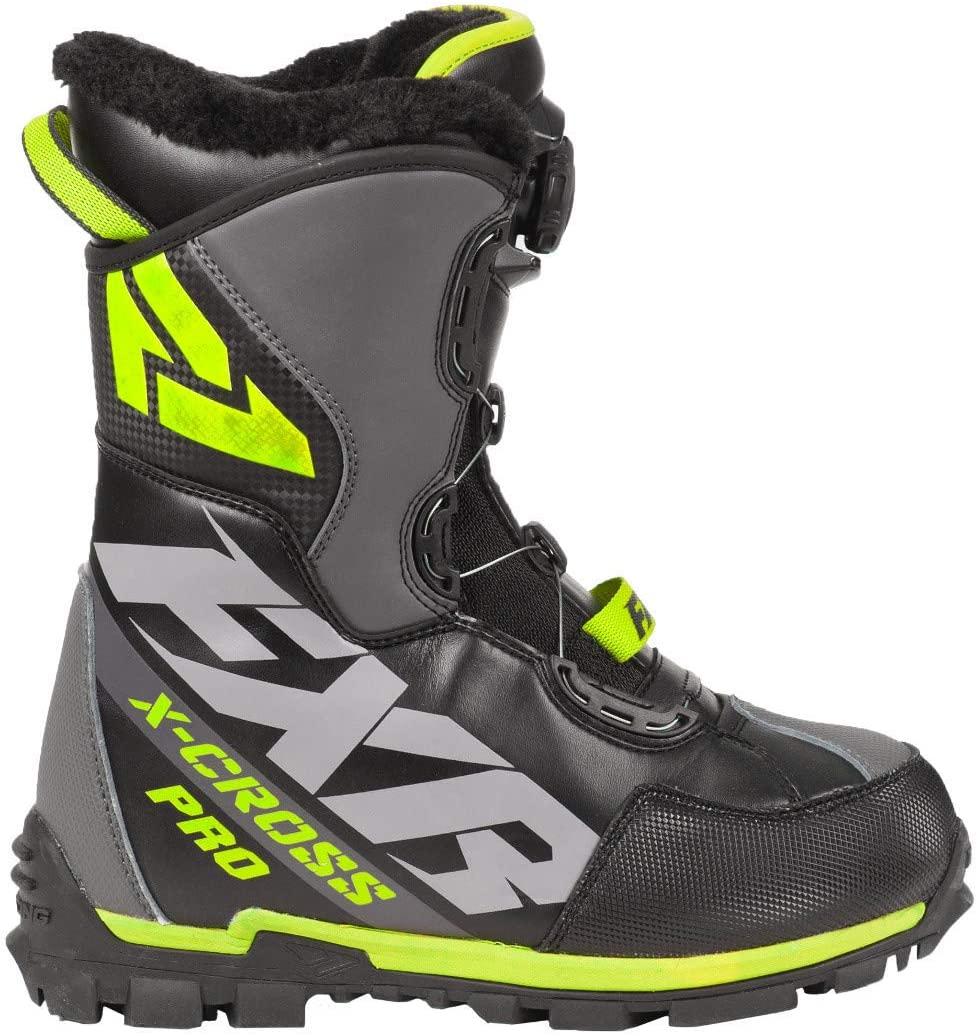 FXR X-Cross Pro BOA Boot (Black/Hi-Vis - Mens 7 / Womens 9 / EU40)