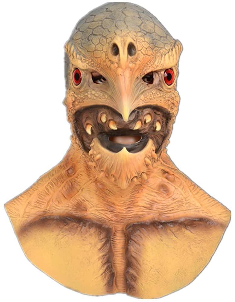 Scary Halloween Mask, Novelty Latex Mask Full Headgear Bird Man Animal Head Mask Realistic Face Mask Cosplay Party Props