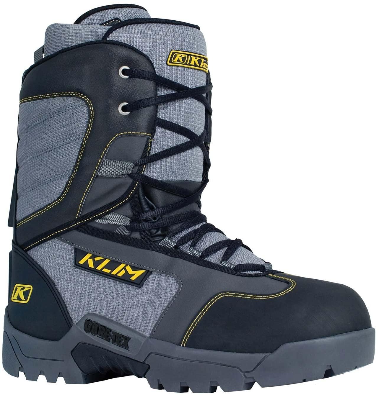 Klim Radium GTX Men's Snocross Snowmobile Boots - Black/Size 8