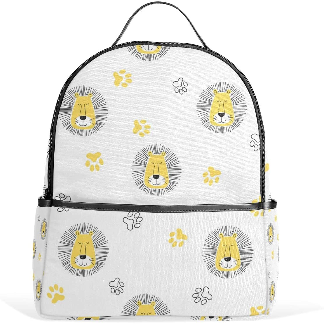 Kids' School Backpack Cartoon Lion Bookbag for Boys Girls Lightweight Casual Travel Bag Large Capacity Daypack