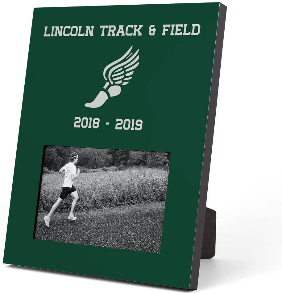 Gone For a Run Personalized Track and Field Photo Frame | Team Picture Frame | Green