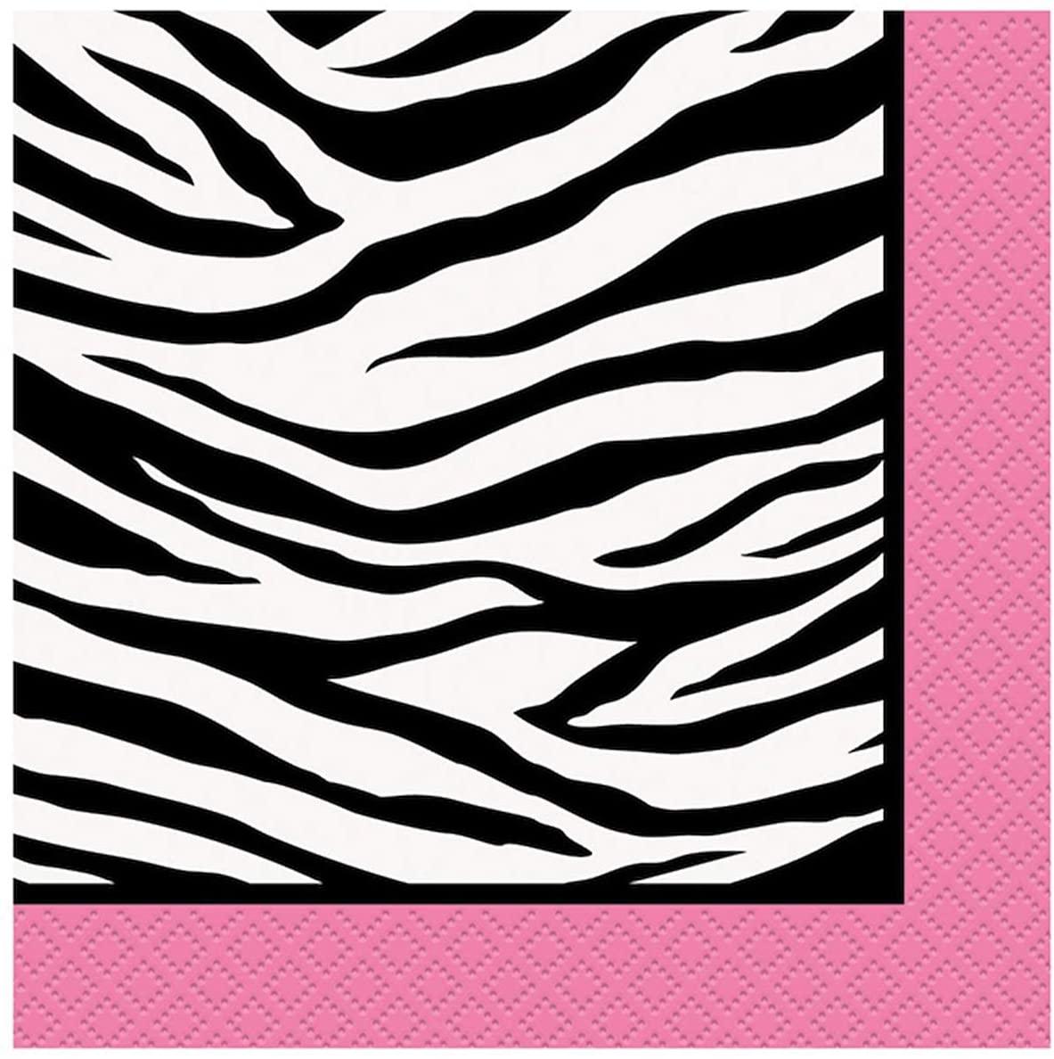 Zebra Print Beverage Napkins, 16ct