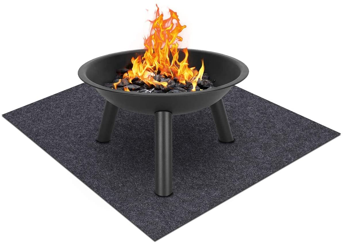 Fire Pit Mat—Stove fire mat,Retardant | Heat Resistant,Ember Mat and Grill mat,Absorbent Material, Protect Your Deck, Terrace, Lawn or Campground from Embers,Waterproof Backing,Washable (36