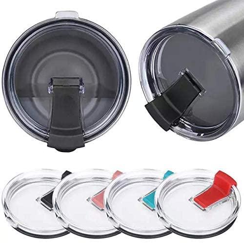Gtell Tumbler Replacement Lid for 20 oz, 30 oz Tumbler - Splash Resistant, Leak Spill Proof and Straw Friendly (20oz RD+BK+PK+BU)