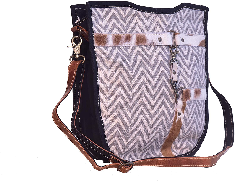Bhrayna-Bags Hairon Strip On Rug Shoulder Bag Handbag