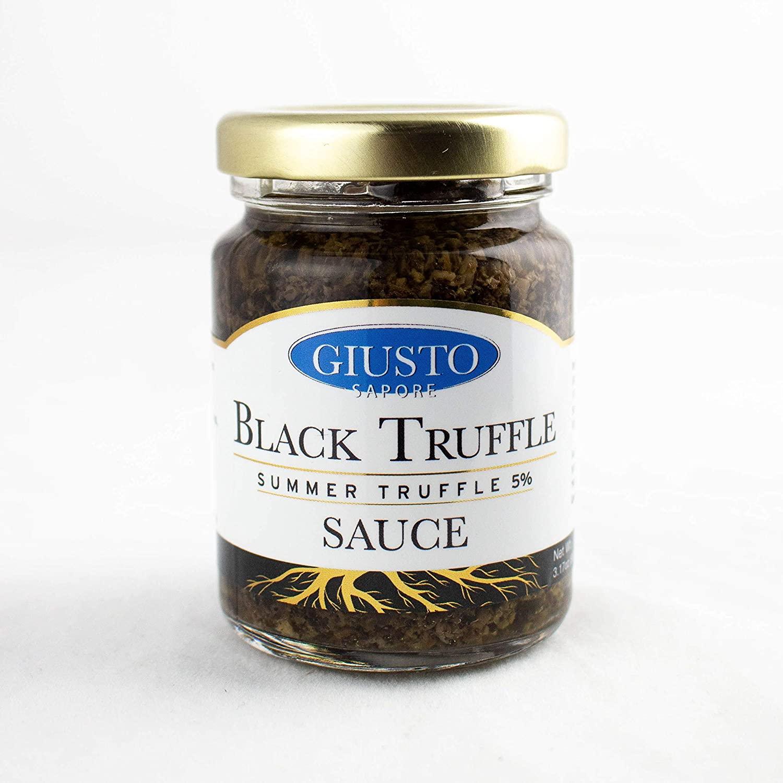 Giusto Sapore Premium Gourmet Black Truffle Sauce - Imported from Italy 3.17 oz