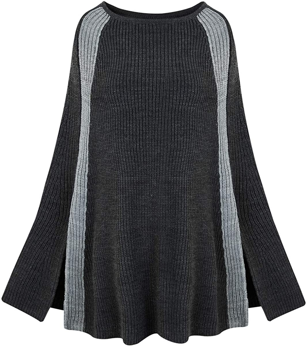Womens Pullover Poncho Sweater Cardigan
