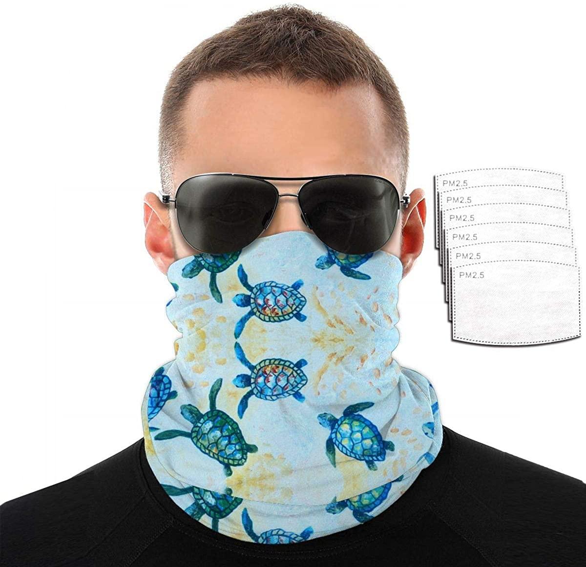 Unisex Bandanas Neck Gaiter Face Covering Mask Wind-Proof - Blue American Flag