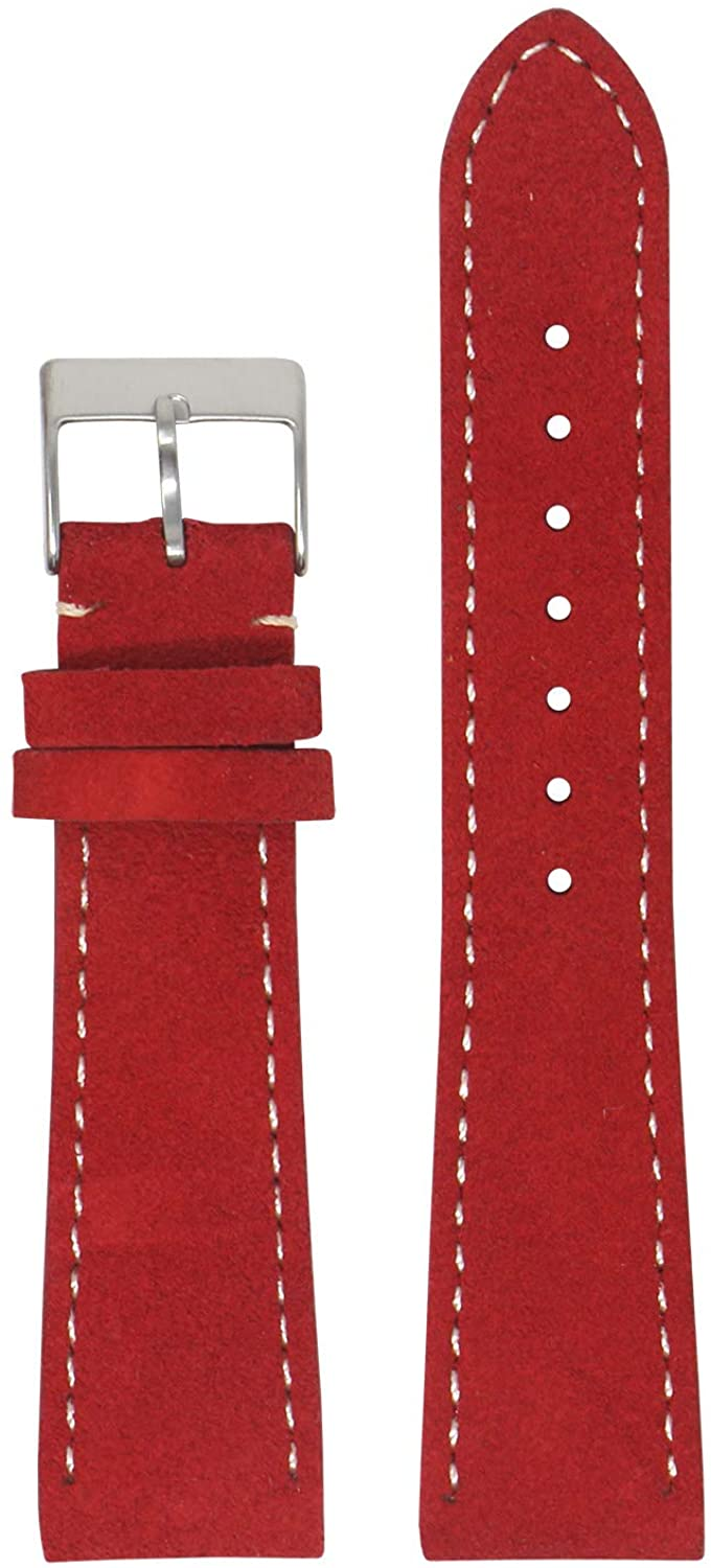 StrapsCo Classic Suede Leather Quick Release Watch Band Strap - Choose Your Color/Length - 16mm 18mm 19mm 20mm 21mm 22mm 24mm