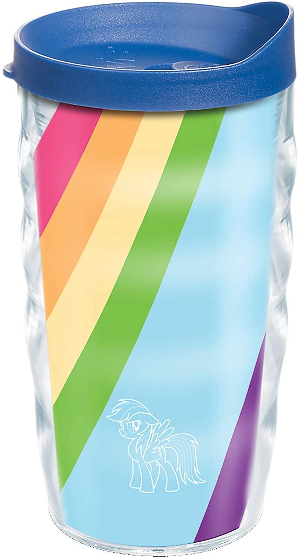 Tervis My Little Pony-Rainbow Dash Insulated Tumbler, 10oz Wavy, Clear-Tritan