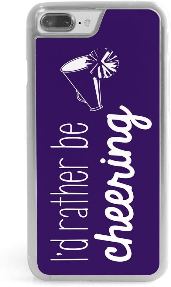 Cheerleading iPhone 7 Plus Case | I'd Rather Be Cheering | Purple
