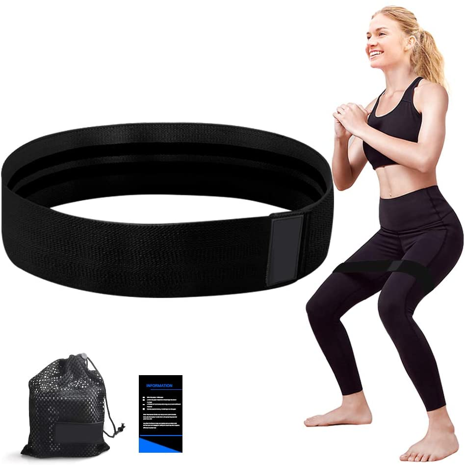 RTDEP Resistance Bands Exercise Bands Hip Band Booty Bands for Women&Men Fabric Bands for Working Out Set of 3 Booty Band for Legs,Glutes, Abs, Butt&Arms Non-Slip&Rolling