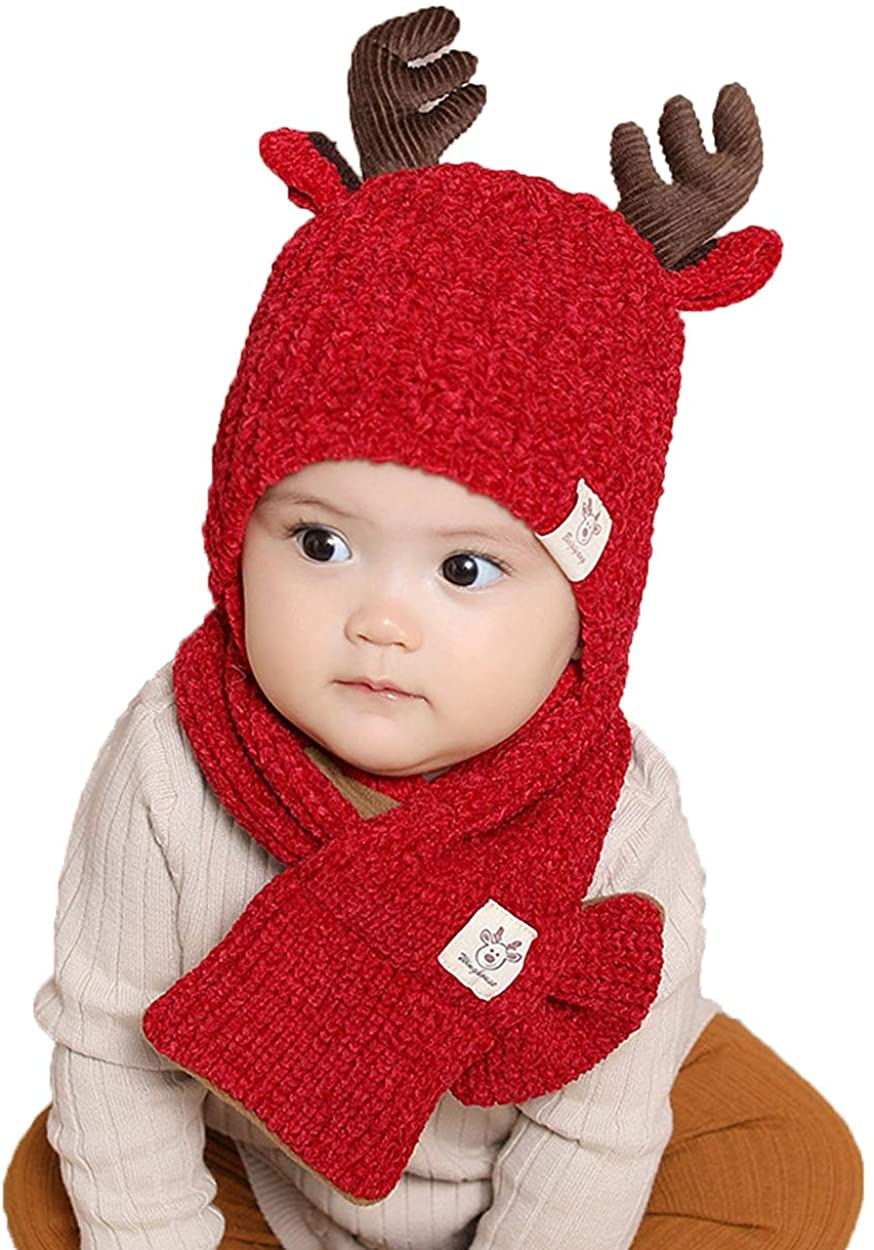 ba knife Baby Hat Scarf Set Winter Boys Girls Toddler Earflap Warm Neckerchiefs Infant Thick Knit Scarves Caps for Kids