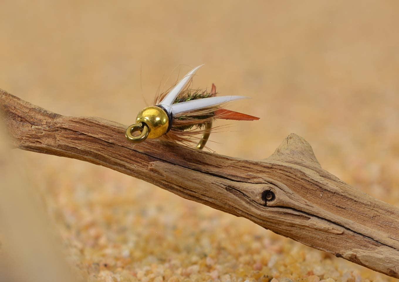 12 Flies Bead Head Prince Nymph Fishing Flies - Mustad Signature Fly Hooks