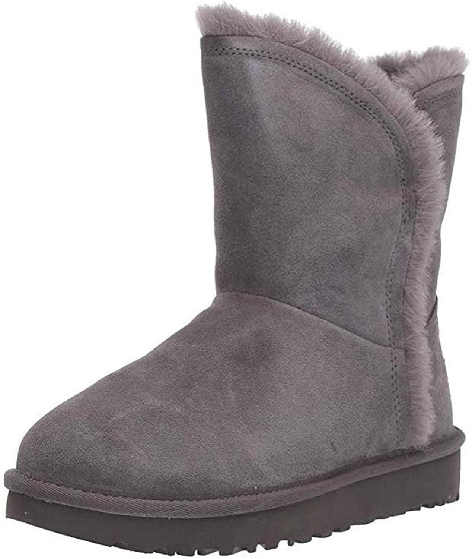 XIANGYOU Womens Fashion Winter Fleece Lined Flat Boots Classic Warm Short Fluff Snow Boots