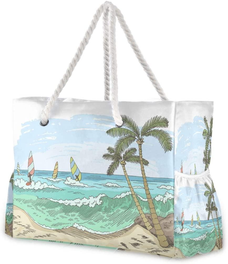 Beach Bag Large Travel Tote Bag Sea Windsurfing Shoulder Bag luggage bag for Gym Travel Sport