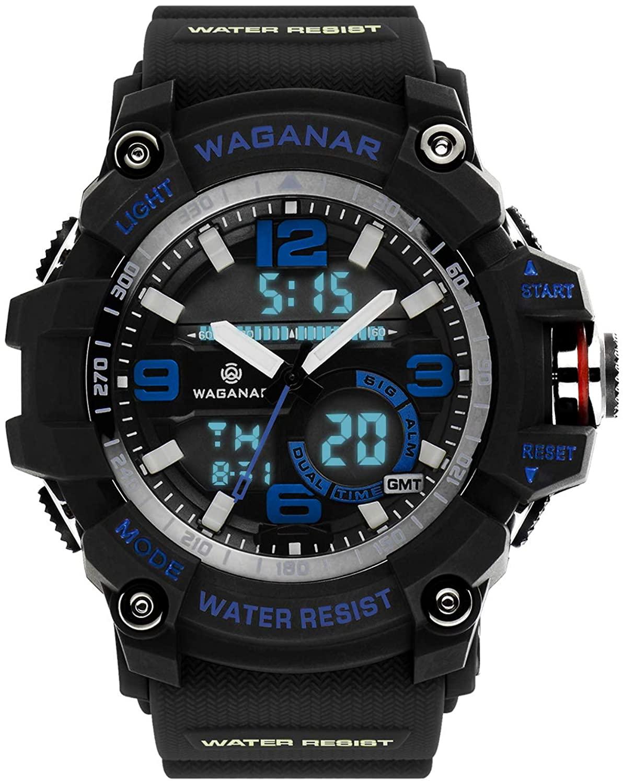 Blekon Collections Mens Analog Digital LED 30M Waterproof Outdoor Sport Watch Military Multifunction Casual Dual Display 12H/24H Stopwatch Calendar Wrist Watch