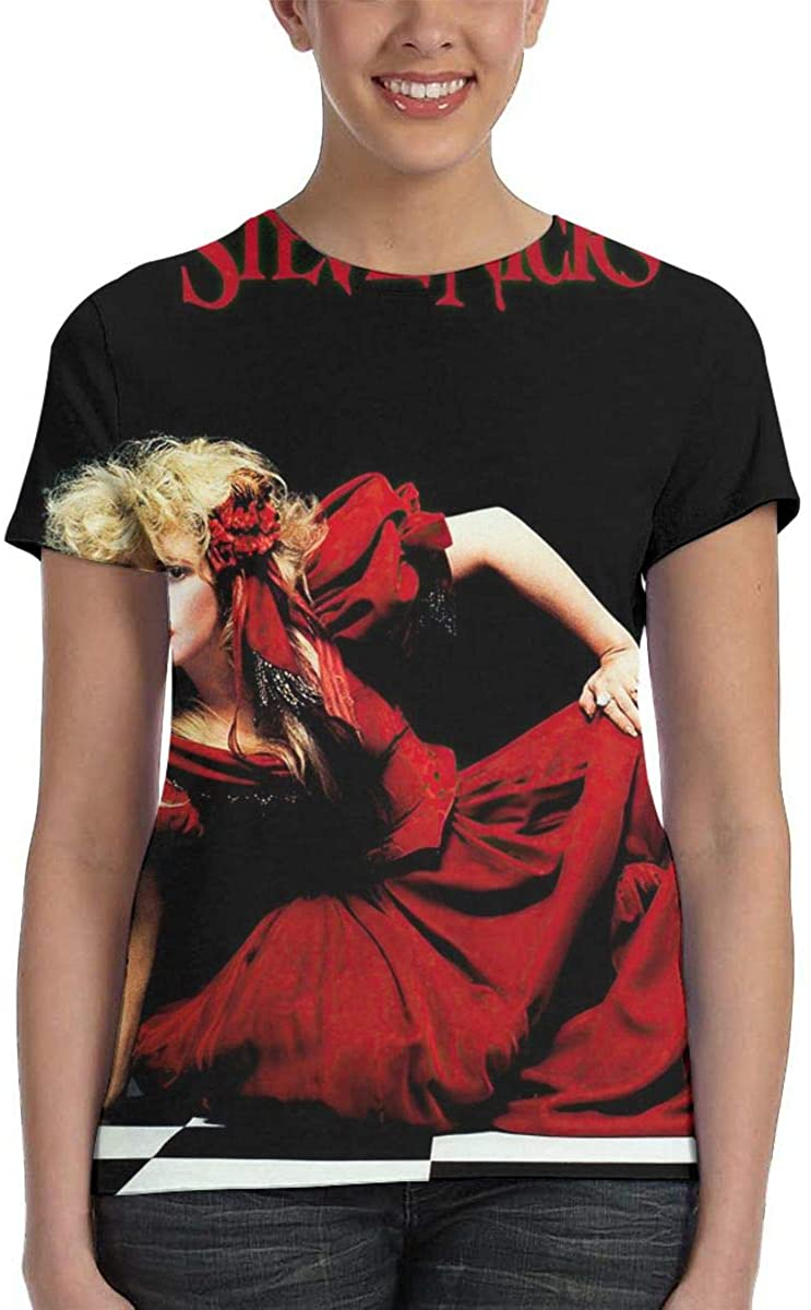 PaulSLazarus 3D Printed Stevie Nicks The Other Side of The Mirror Hip Hop Woman's Round Neck Short Sleeve T Shirts