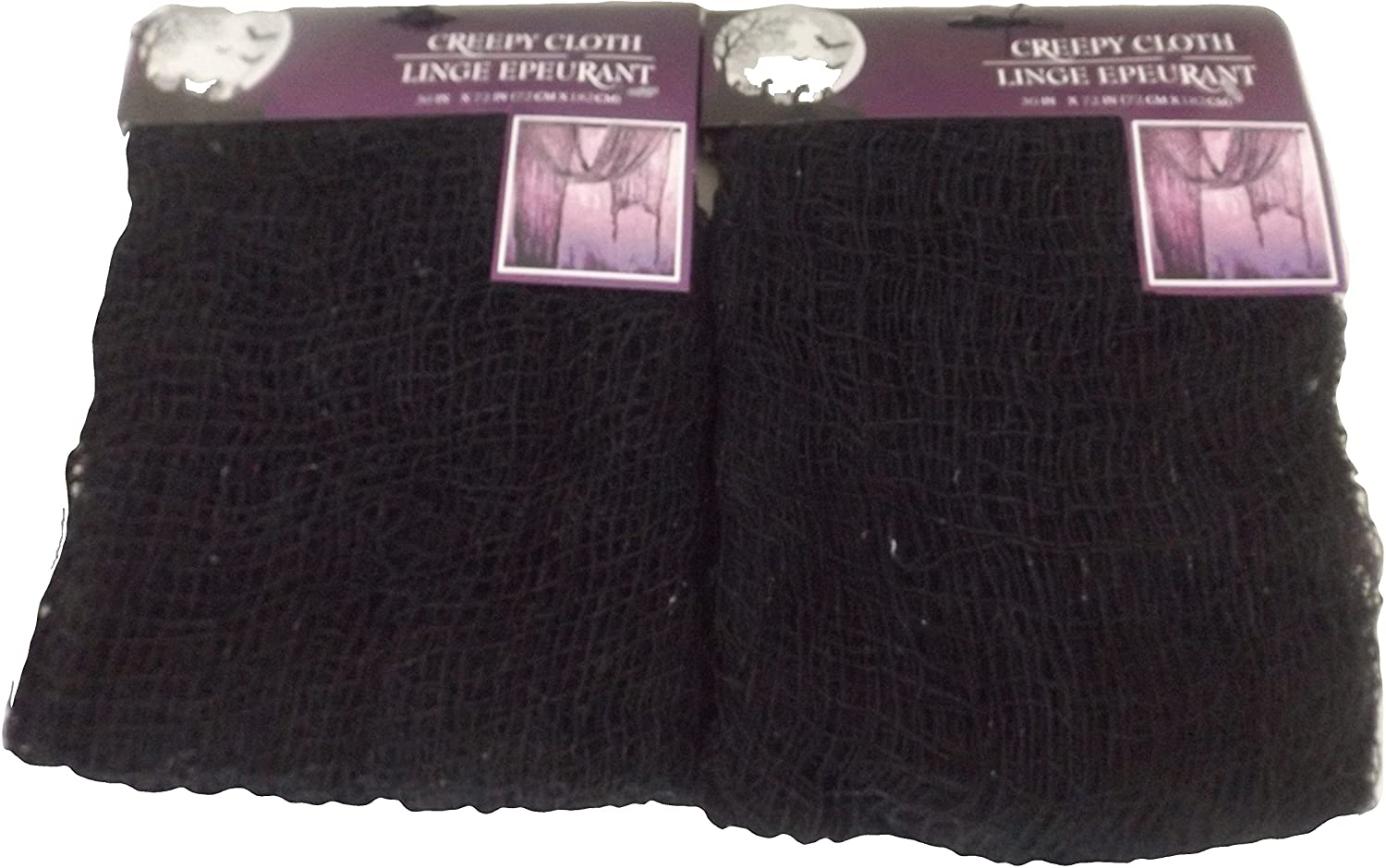 Creepy Cloth Halloween Decoration Black - 2 Pack