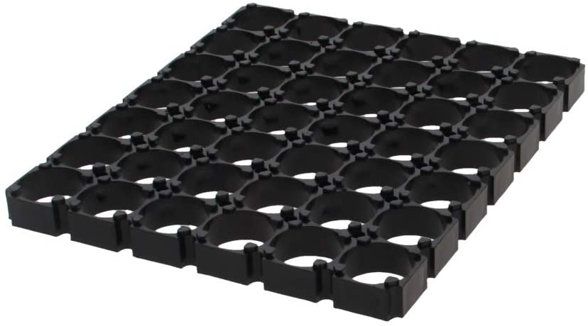 Fielect 10Pcs 6x7 Cell Spacer 18650 Lithium Battery Plastic Holder Bracket for DIY Battery Pack 18.5mm Hole Dia