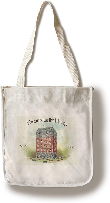The Blackstone Hotel (Chicago) Brand Cigar Box Label (100% Cotton Tote Bag - Reusable)