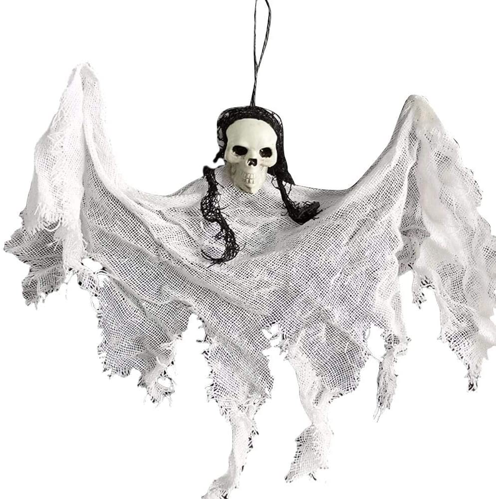 biliten Halloween Ghost Hanging Decorations Scary Creepy Indoor/Outdoor Decor, Halloween Party Indoor and Outdoor Realistic Looking Decoration Set Hanging Ghost Haunted House Decor Accessories