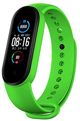 Replacement Bands Compatible with Xiaomi Mi Band 5 Bands, Silicone Wristbands for Women Men