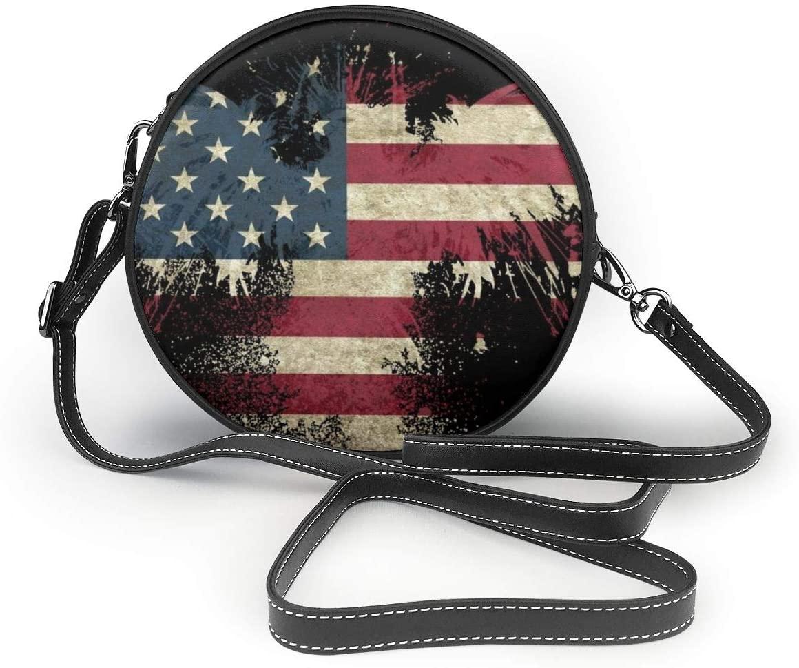 YongColer Ladies Designer Purses Cross Body Handbags Trendy Bags for Women Shoulder Bags - American Eagle Art USA Flag