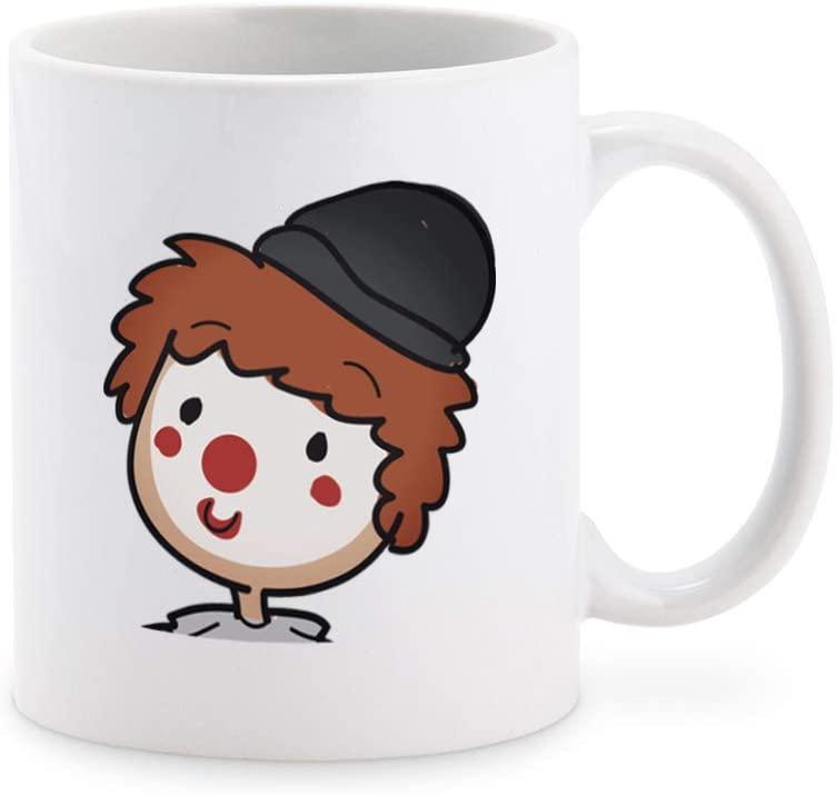 Cute Happy Retro Kids Birthday Clown Cartoon Coffee Mug Tea Cup Novelty Gift Mugs 11 oz