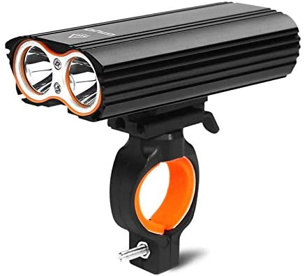 YP Bicycle Headlight,USB Charging Bicycle Front Light,Bike Headlight with Two LED-T6 Lamp Beads