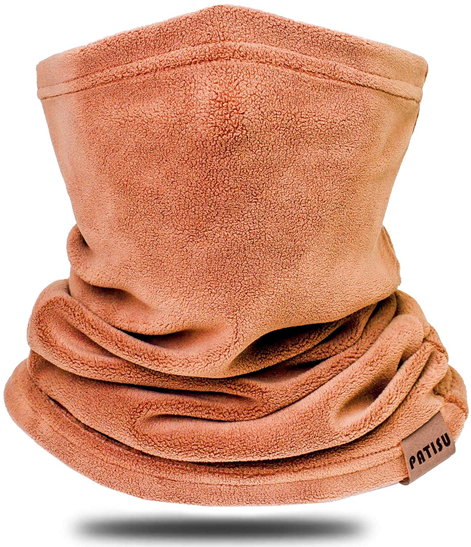 Winter Neck Warmer Gaiter Fleece Neck Cover Cotton Balaclava Windproof Face Cover Mask for Women Men