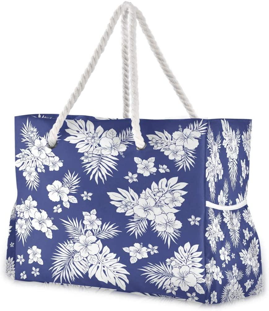 Beach Bag Large Travel Tote Bag Leaf Shoulder Bag luggage bag for Gym Travel Sport