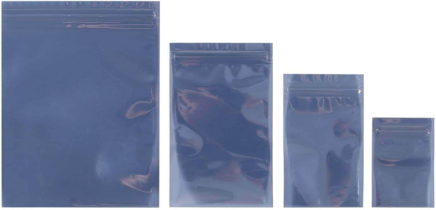 ALMOCN 100PCS Antistatic Bags,4 Different Size Open Top & Resealable Anti-Static Bags for SSD HDD and Other Electronic Devices