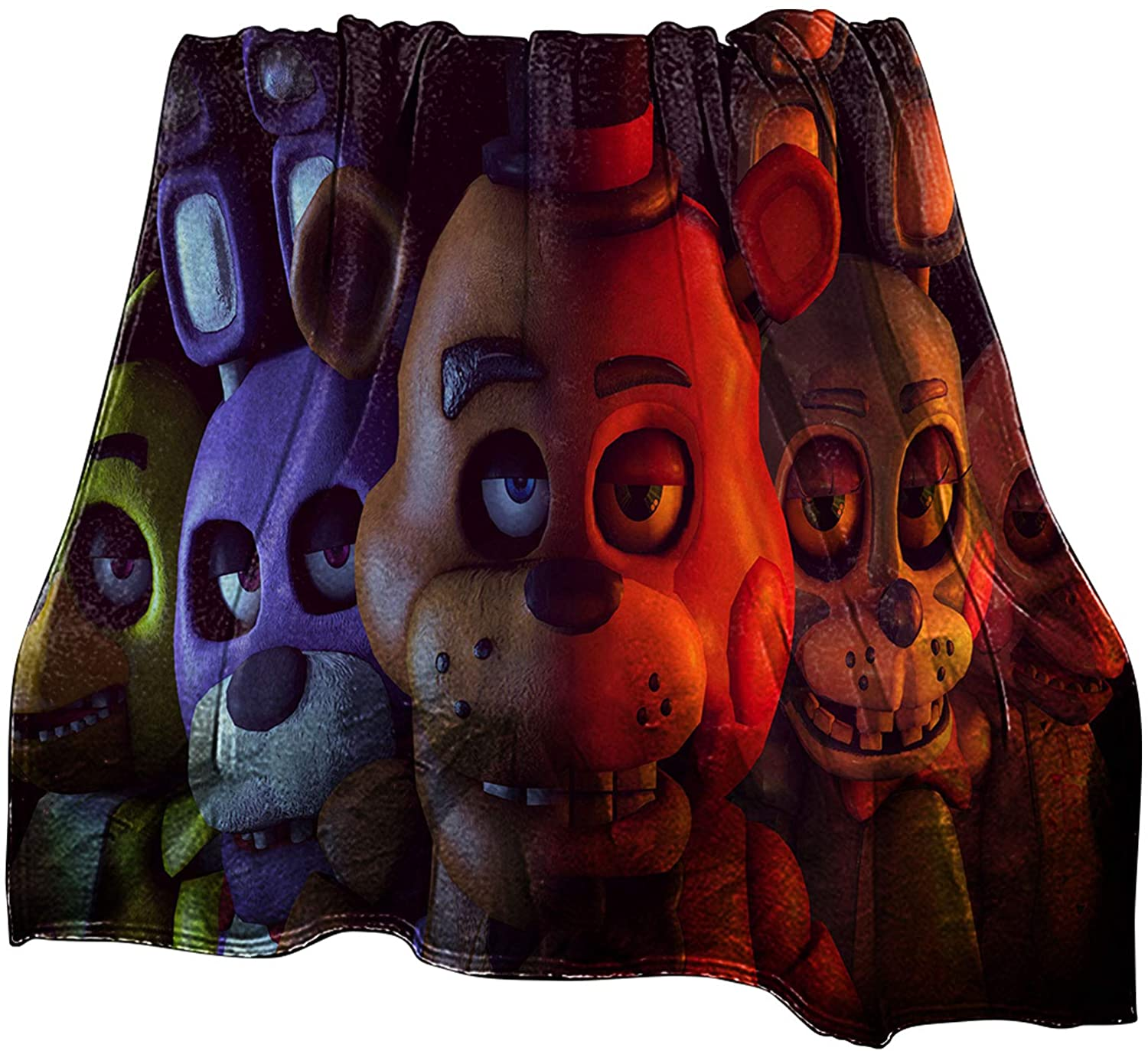 Zhongkaihua FNAF Blanket Five Nights at Freddy's Flannel Blanket Plush Novelty Printed Throw Blanket Fall Winter Blankets for Indoors Outdoors Travel Home