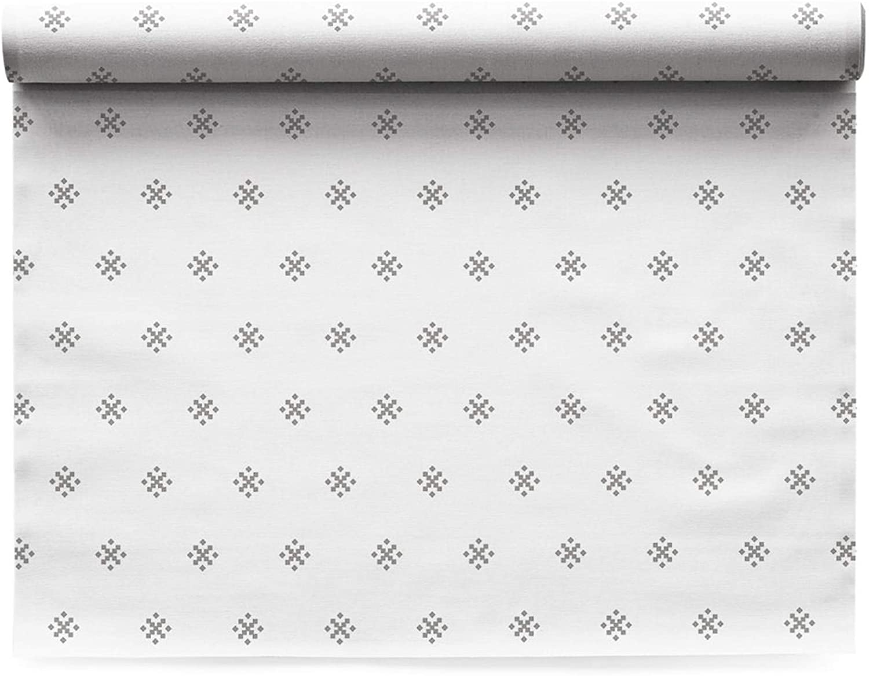 MY DRAP Linen Placemats, Silver Stars, 12 Units