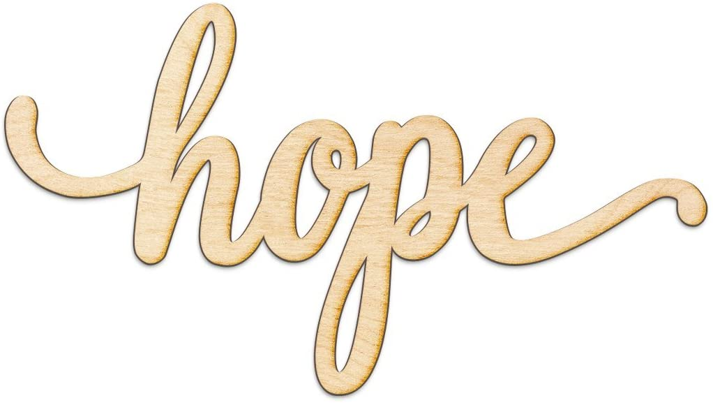 Hope Script Wood Sign Home Decor Wall Art Unfinished Charlie 12