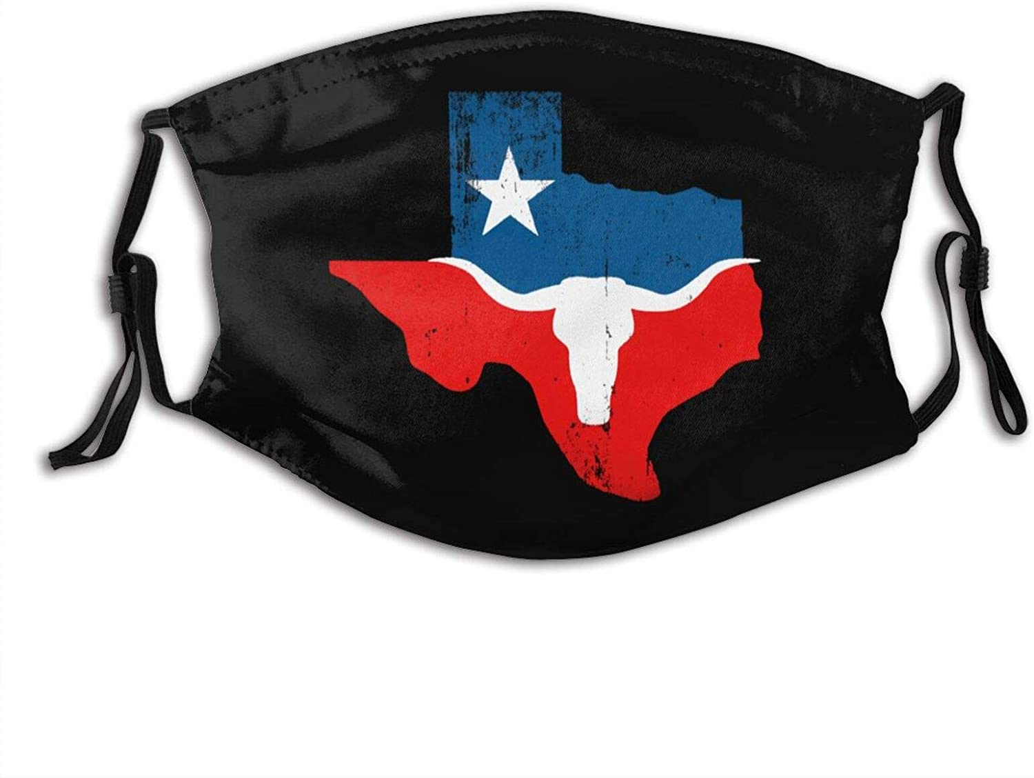 Texas Pride Western Texas Star Outdoor Mask, Protective 5-Layer Activated Carbon Filter, Adult Male and Female Headscarves