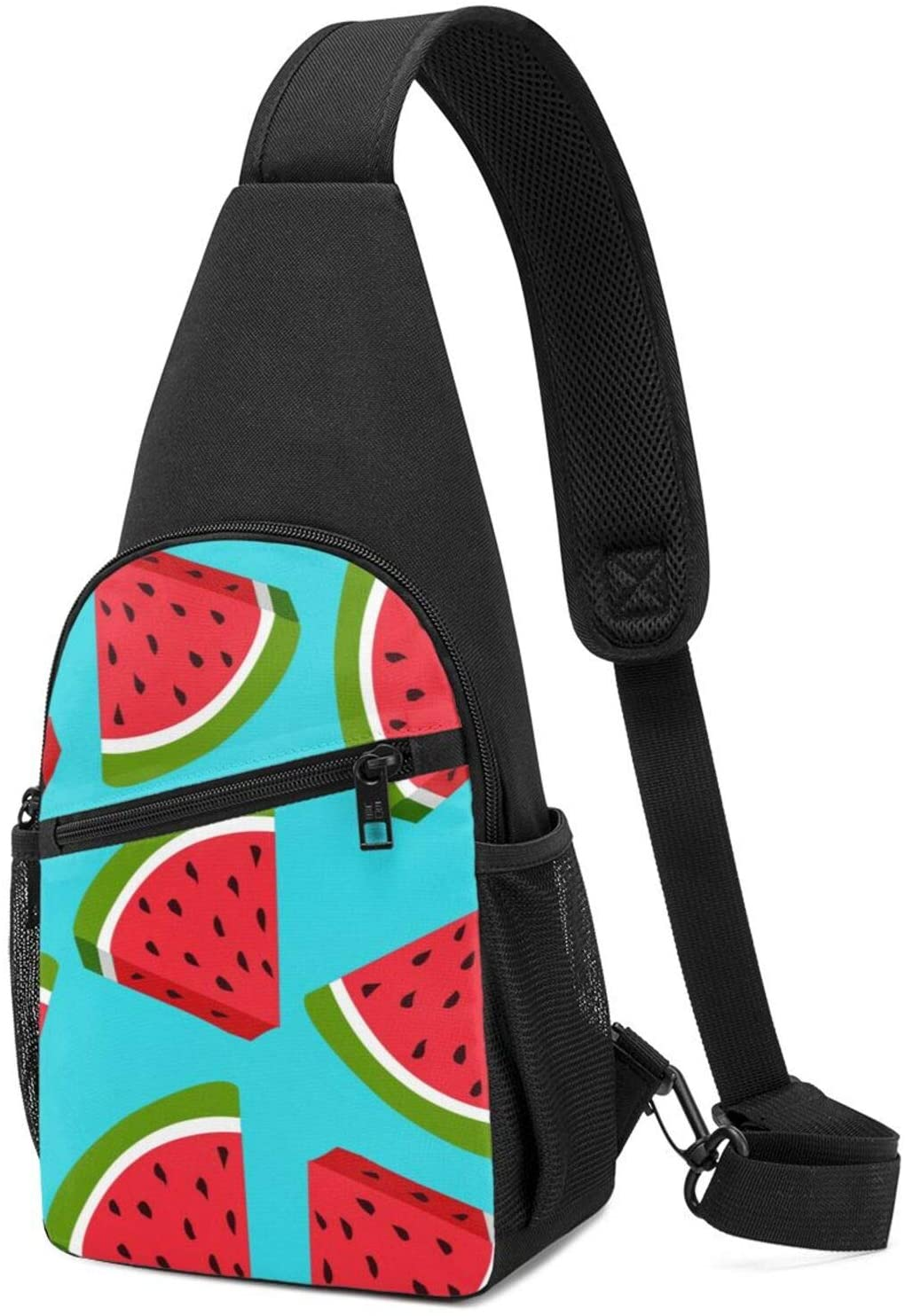 NiYoung Student Sling Bag Premium Fresh Watermelon Crossbody Bags Casual Chest Crossbody Anti-Theft Sling Bag Chest for Cycling, Running, Bicycle