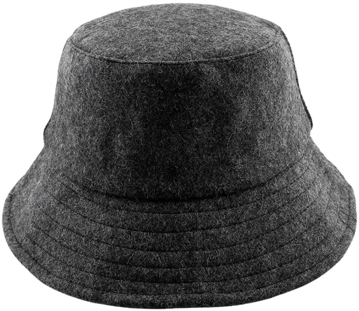 squaregarden Bucket Hats for Men Women, Woolen Outdoor Fishing Hunting Hat Sun Cap